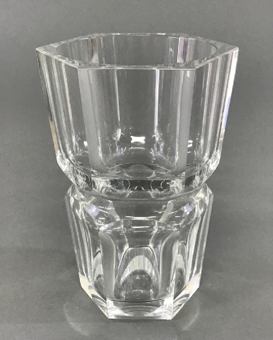 Baccarat Crystal Six-Sided Vase