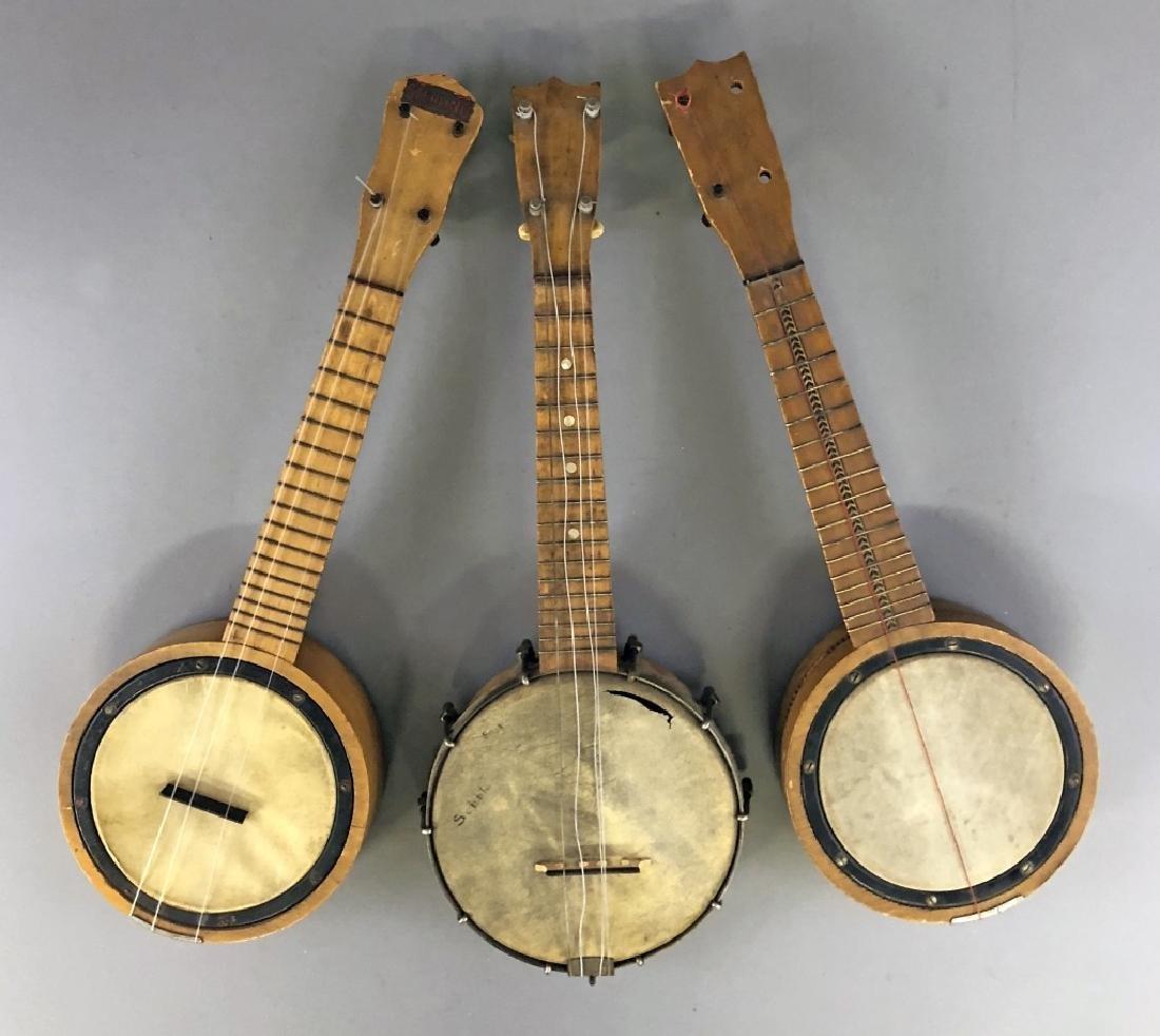 Three Banjo Ukeleles