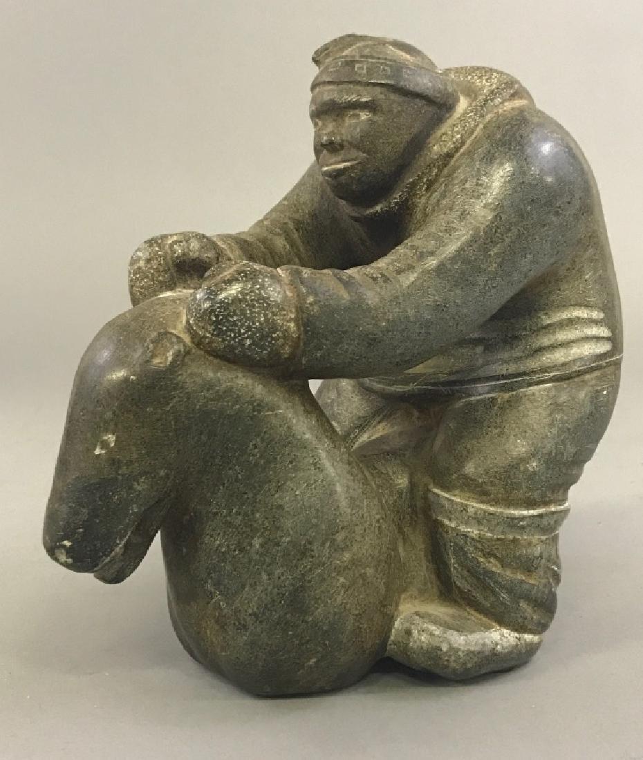 Intuit Carved Stone Eskimo