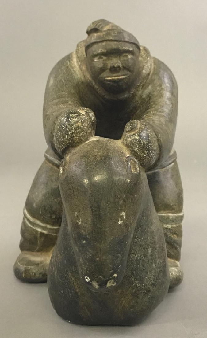 Intuit Carved Stone Eskimo - 2