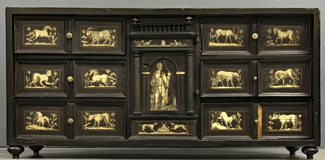 Flemish Ebonized and Ivory Inlaid Cabinet - 2