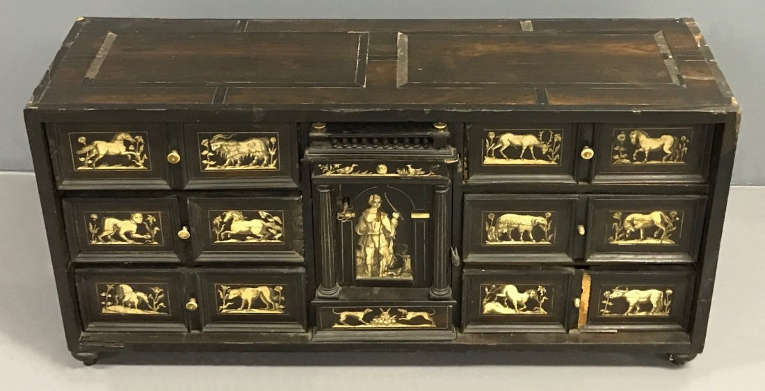 Flemish Ebonized and Ivory Inlaid Cabinet - 4