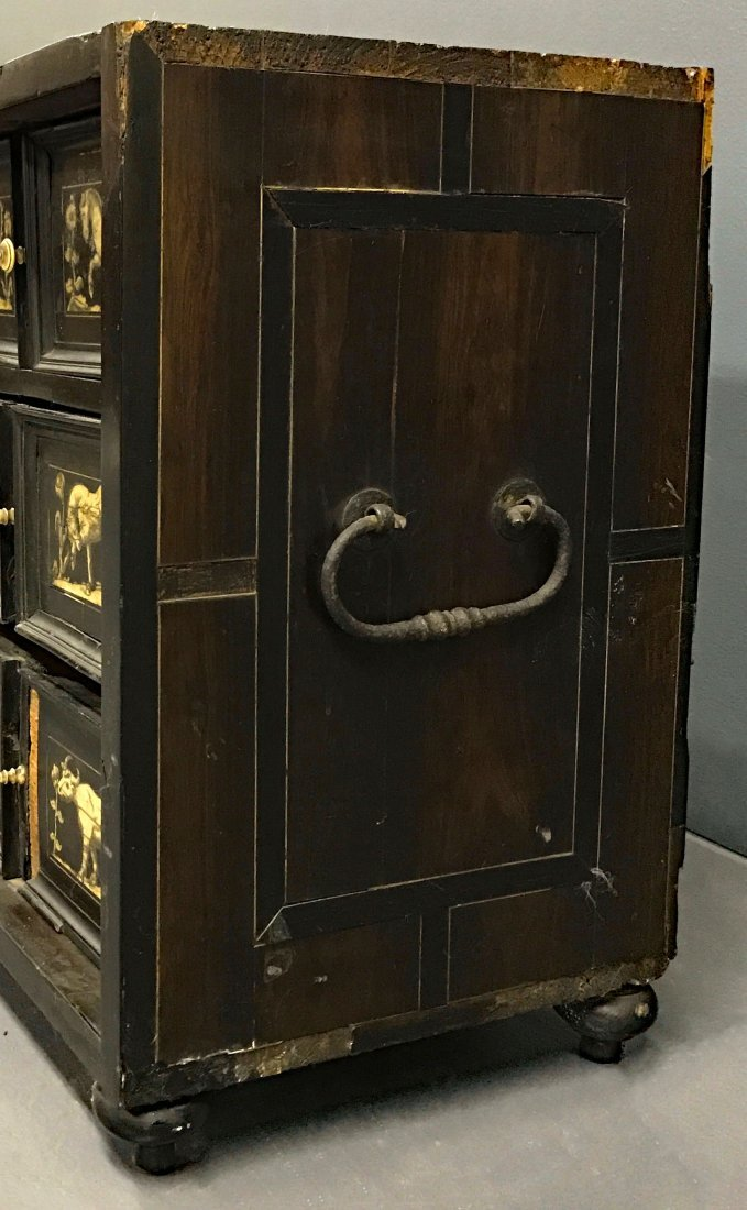 Flemish Ebonized and Ivory Inlaid Cabinet - 5