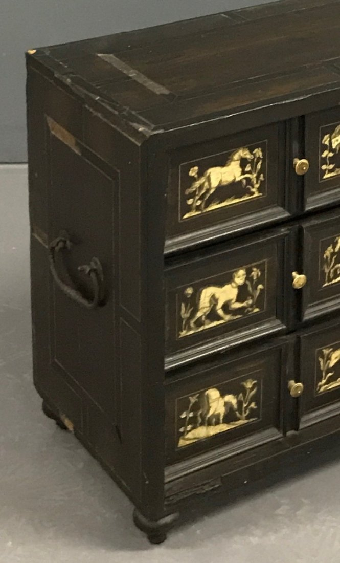 Flemish Ebonized and Ivory Inlaid Cabinet - 6