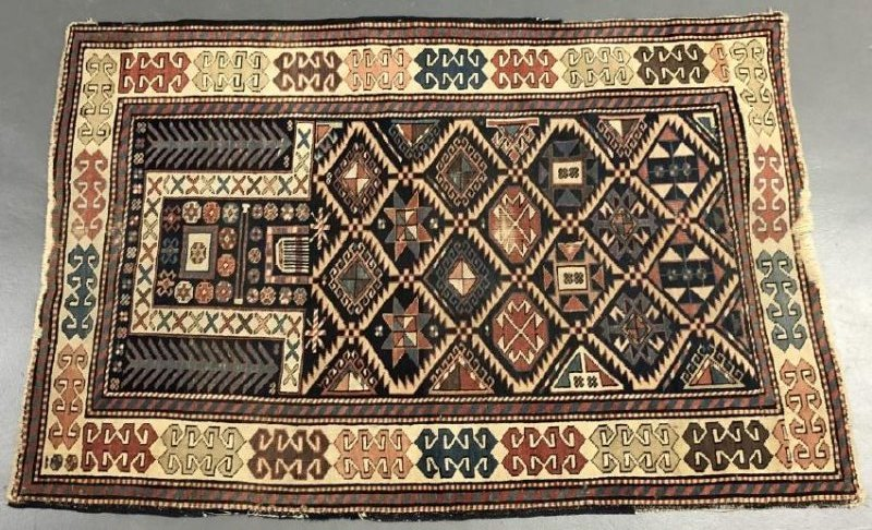 Colorful Caucasian Prayer Mat