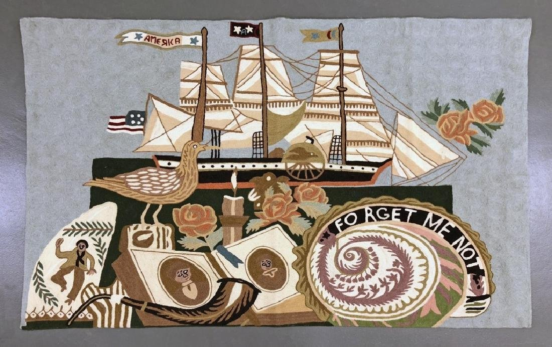 Patriotic Nautical Rug or Wall Hanging