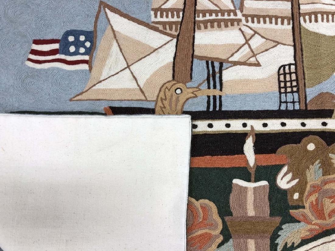 Patriotic Nautical Rug or Wall Hanging - 2