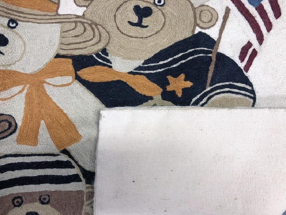Teddy Bear Pictorial Rug or Wall Hanging - 2