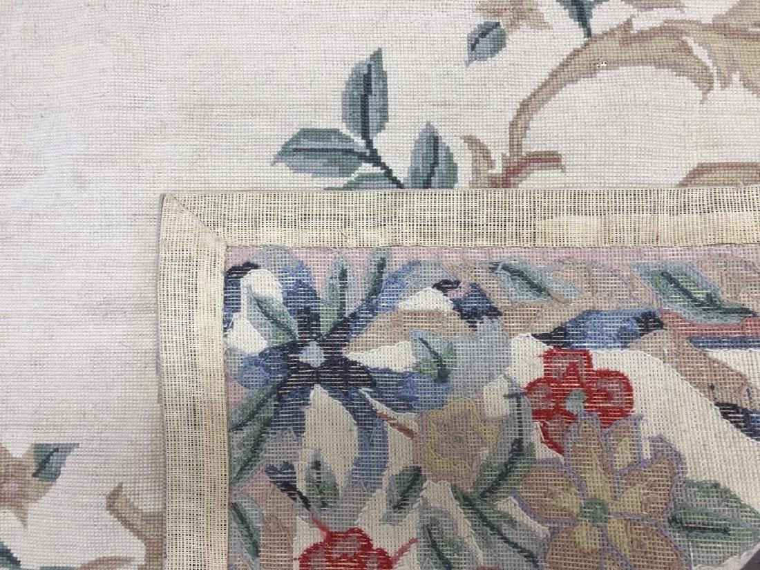 Floral Needlepoint Rug - 2