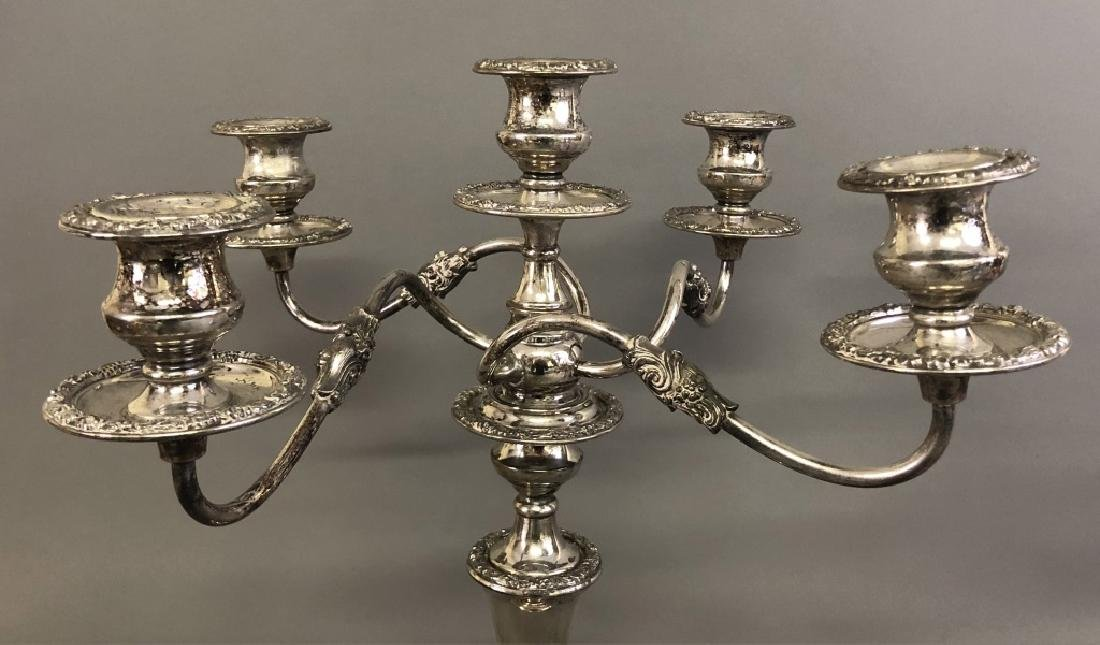 Large Pair of Silverplate on Copper Candelabra - 2