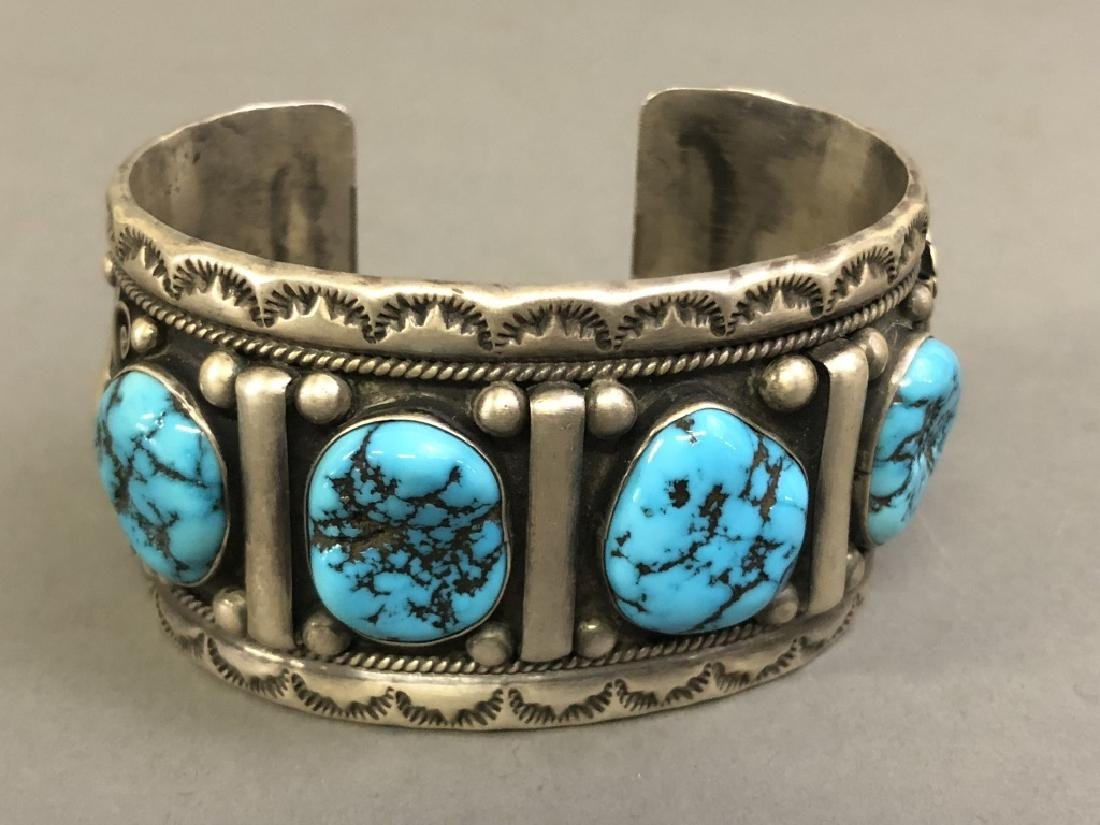 Chief Dodge Sterling Silver and Turquoise Bracelet