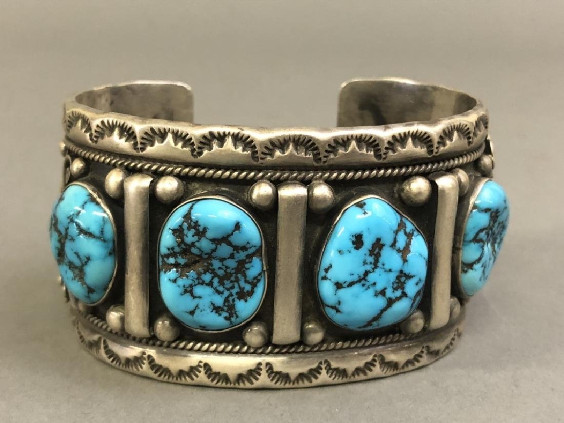 Chief Dodge Sterling Silver and Turquoise Bracelet - 2