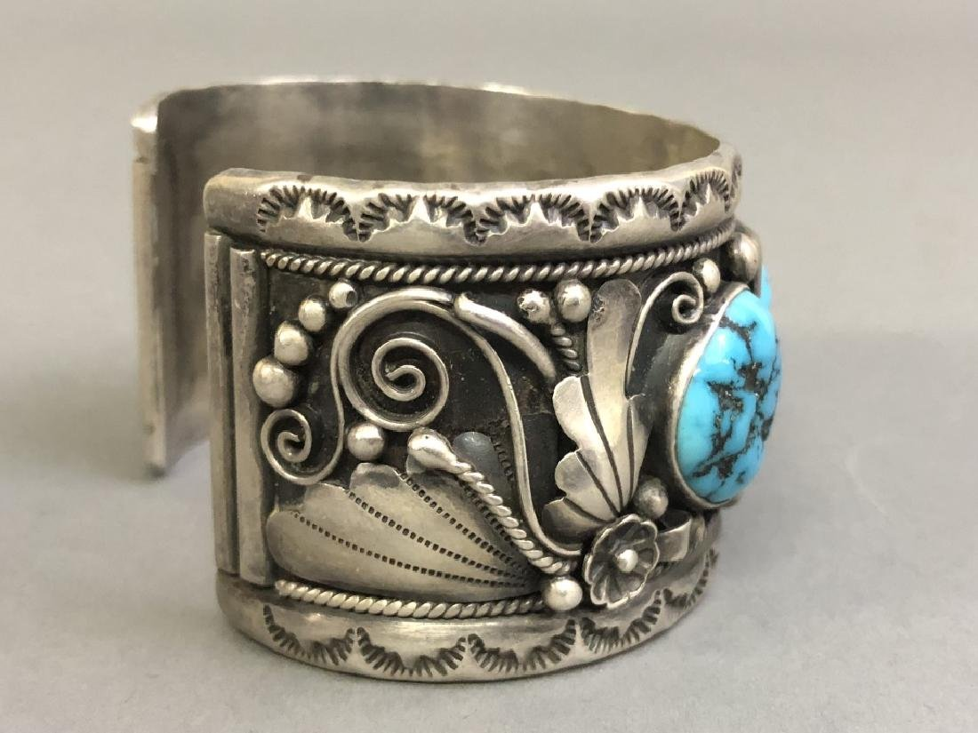 Chief Dodge Sterling Silver and Turquoise Bracelet - 3