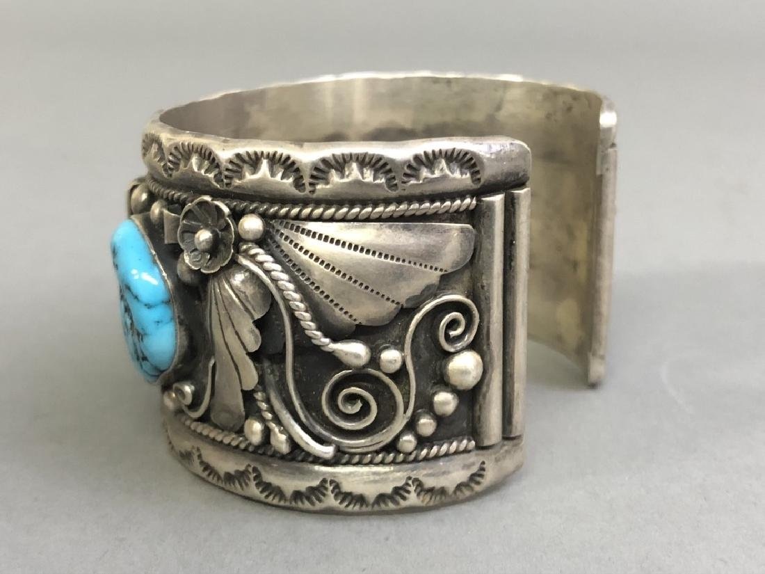 Chief Dodge Sterling Silver and Turquoise Bracelet - 4