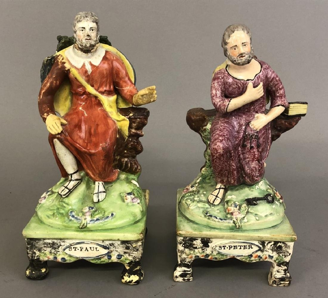 Early Staffordshire Figures St. Peter & St. Paul