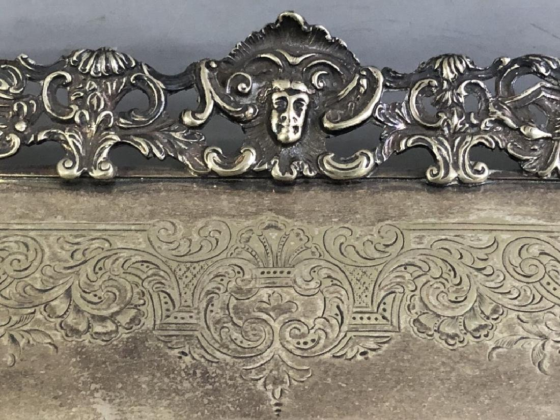 Ornately Chased English Silverplate Serving Tray - 3