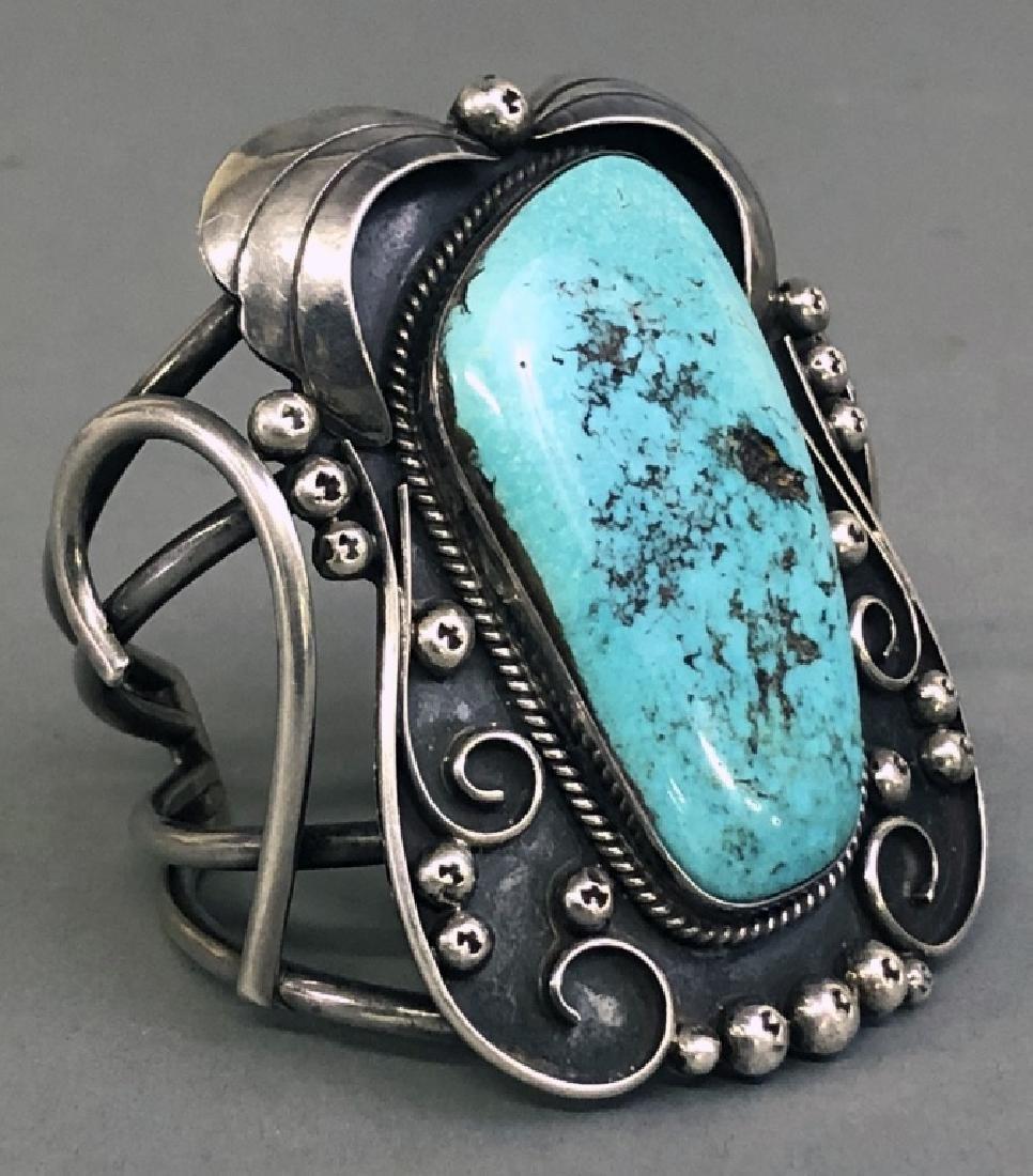 Southwestern American Turquoise & Silver Bracelet