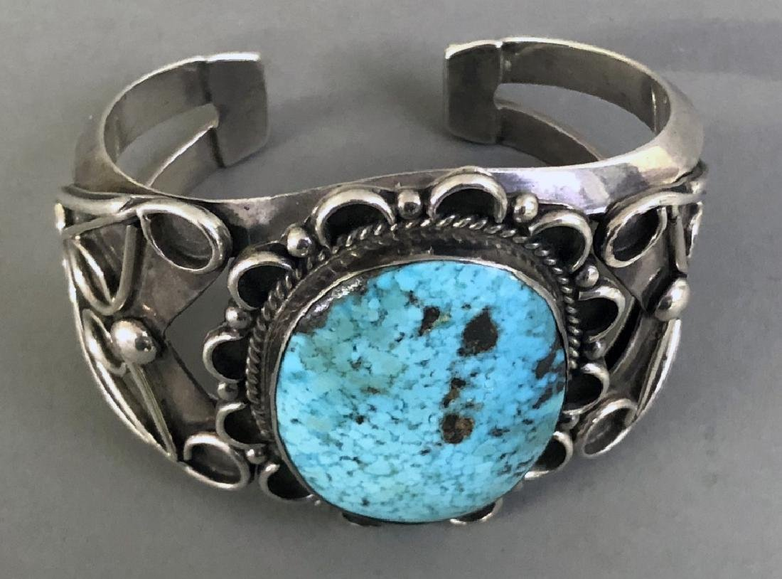 American Southwest Silver and Turquoise Bracelet - 2