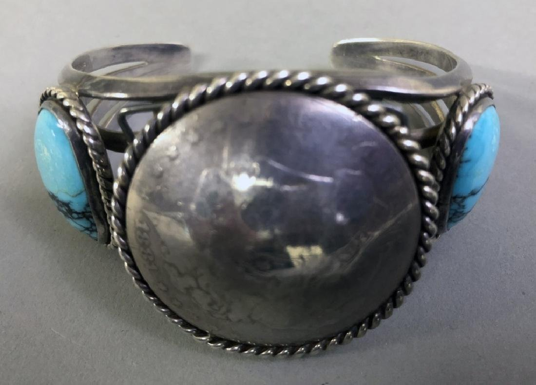 Turquoise and Silver Watch Bracelet