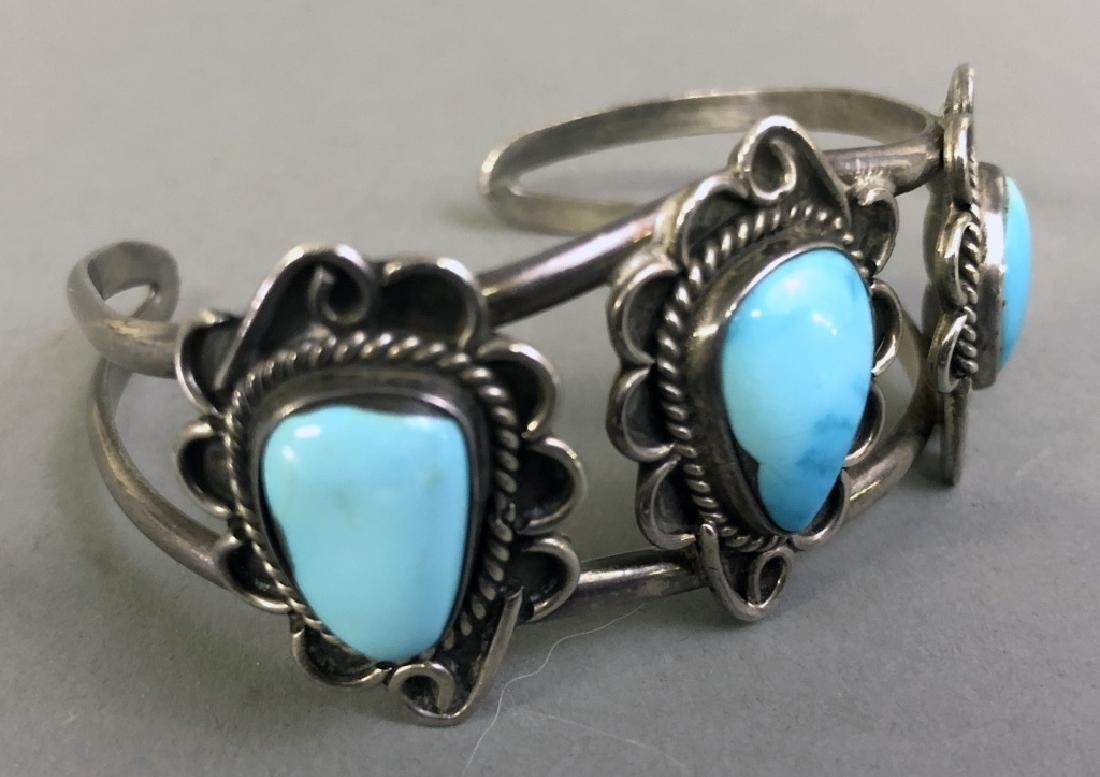 Small Silver and Turquoise Bracelet