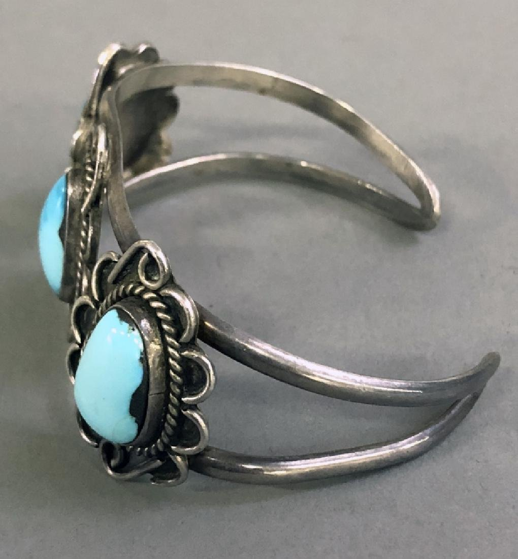 Small Silver and Turquoise Bracelet - 3