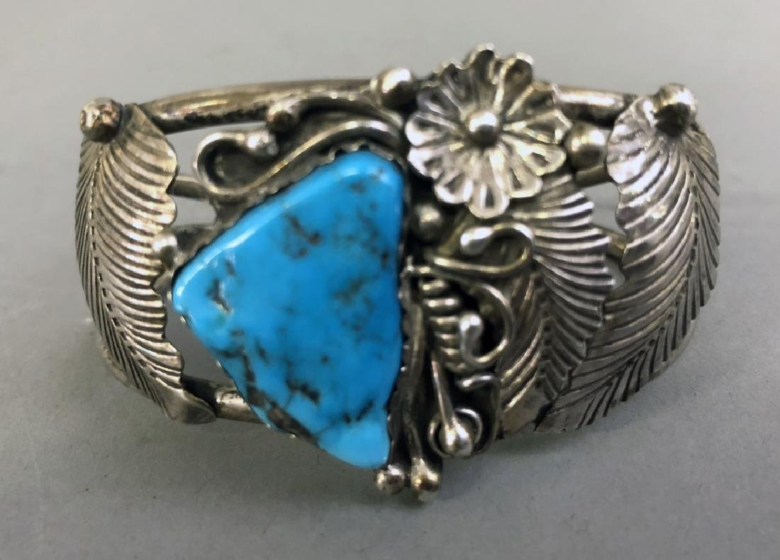 Sterling Silver and Turquoise Bracelet - 2