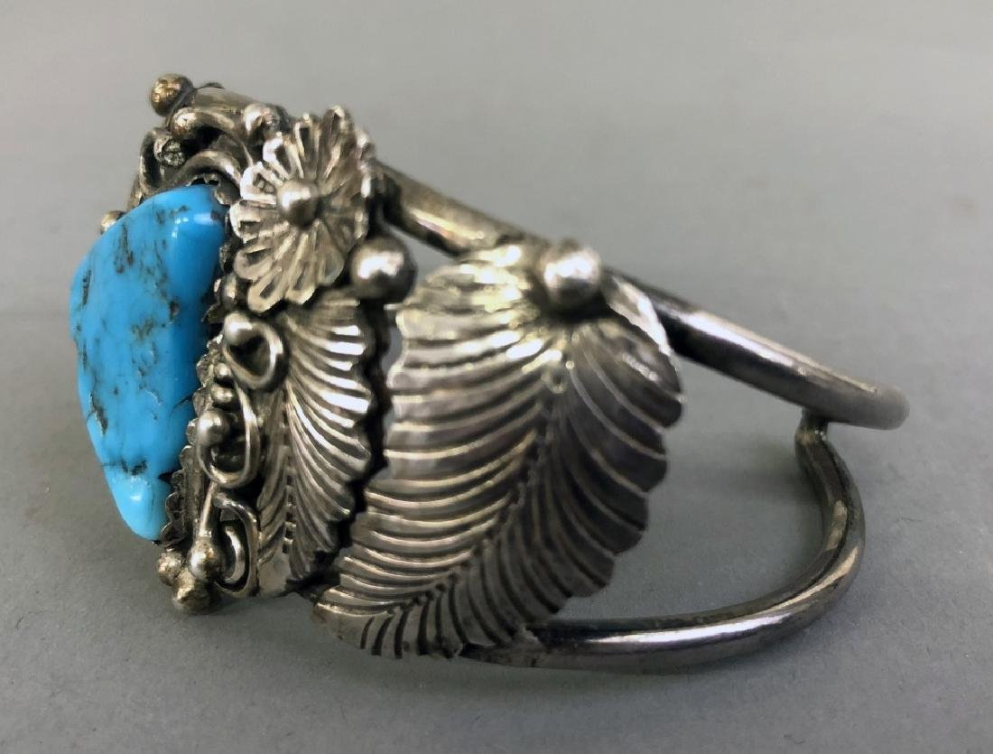 Sterling Silver and Turquoise Bracelet - 3