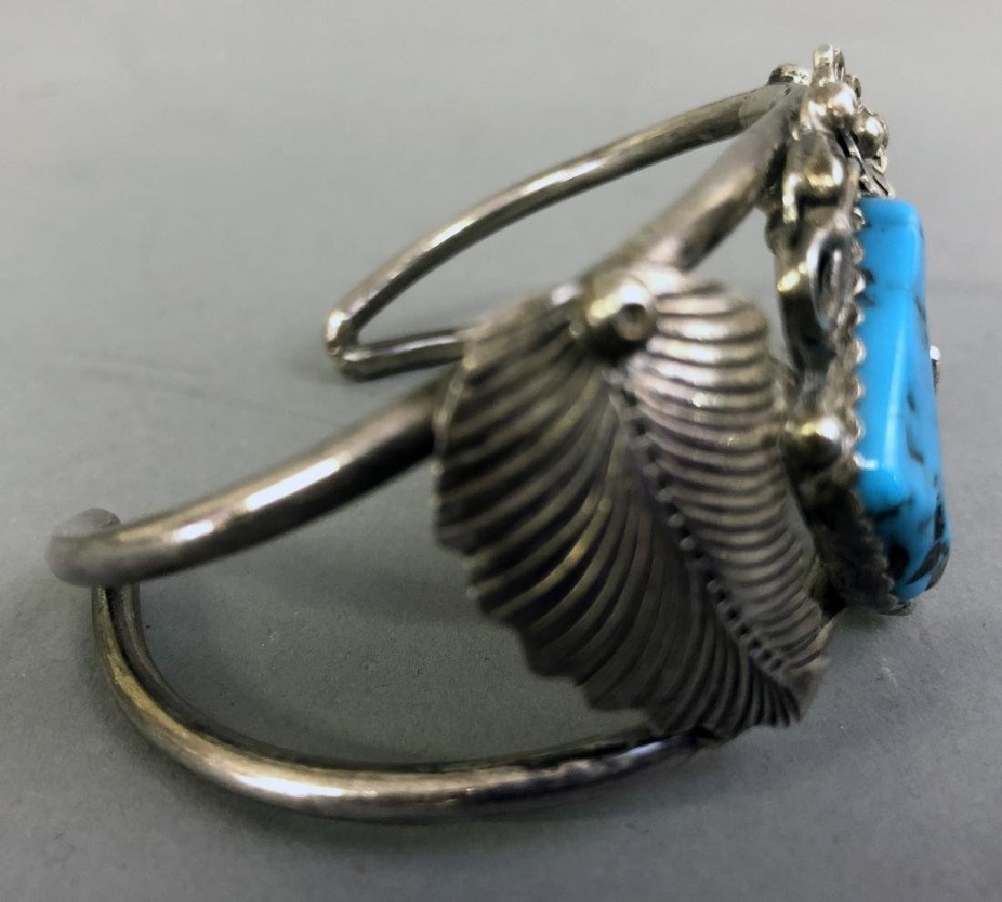 Sterling Silver and Turquoise Bracelet - 4
