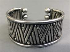 Signed William Spratling Silver Cuff Bracelet