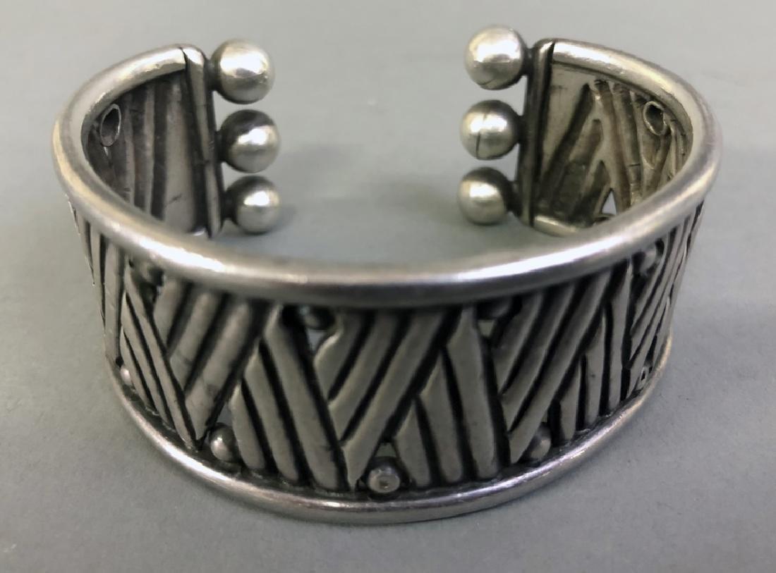Signed William Spratling Silver Cuff Bracelet - 2