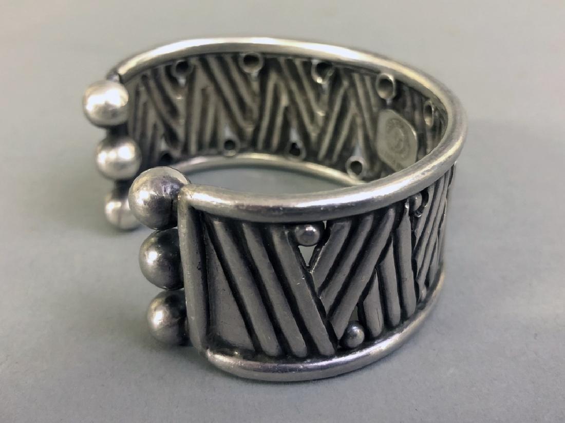 Signed William Spratling Silver Cuff Bracelet - 3