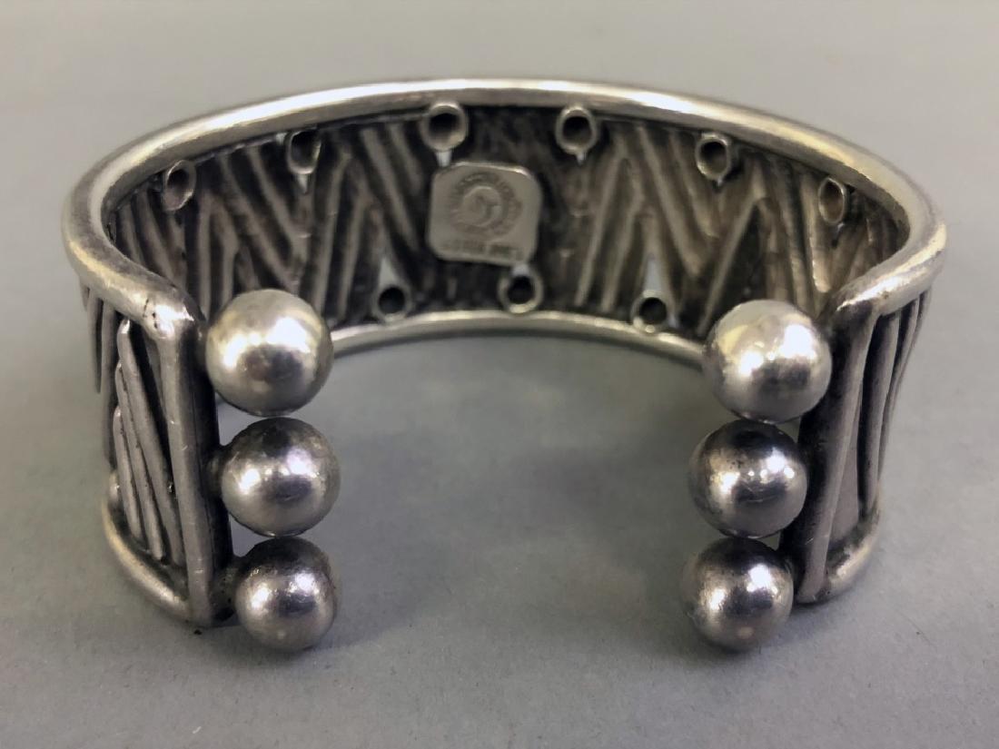 Signed William Spratling Silver Cuff Bracelet - 4