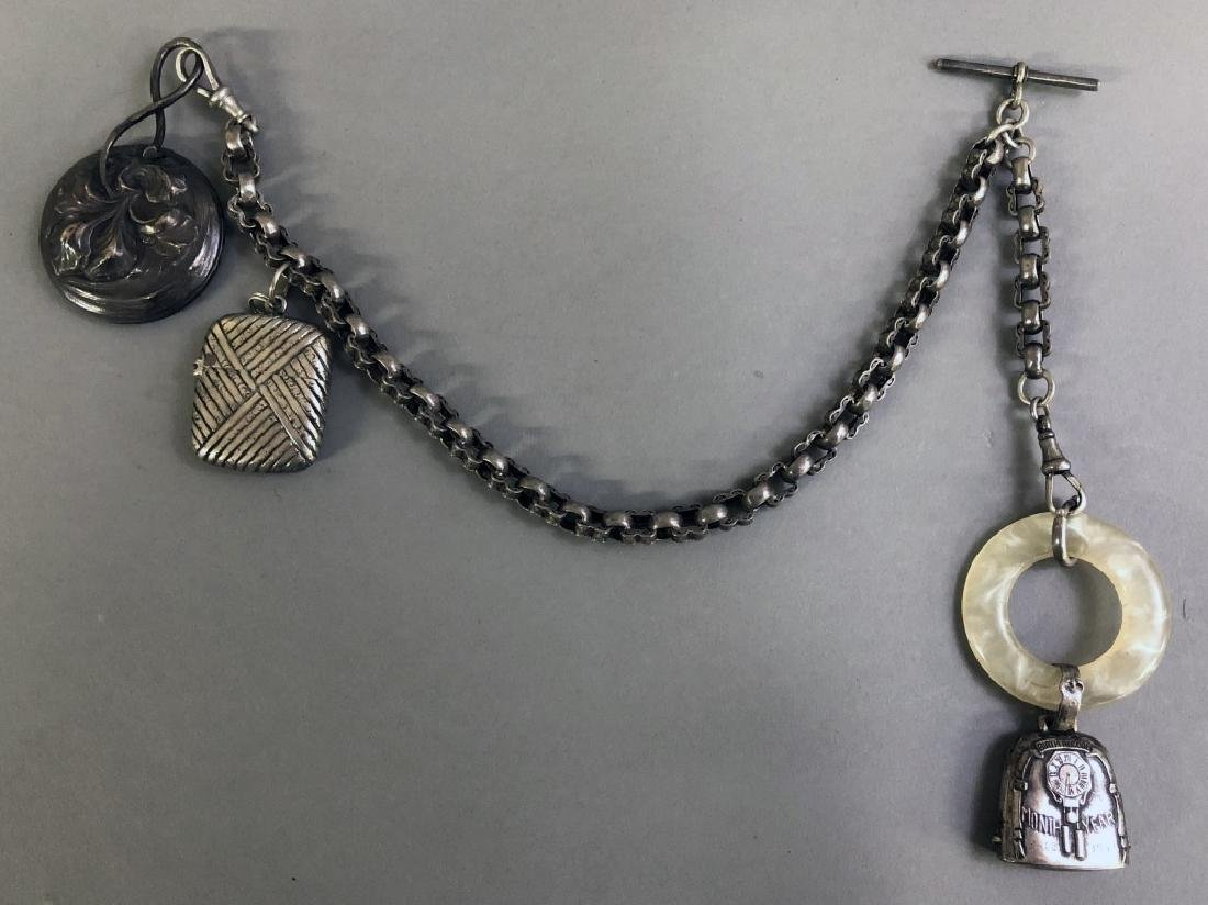 Victorian Sterling Silver Watch Chain