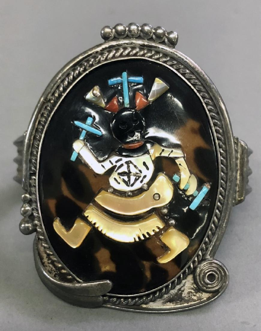 Pinto Zuni Mosaic Inlay & Silver Cuff Bracelet