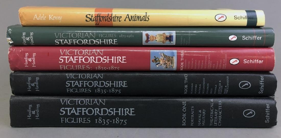 Five Reference Books on Staffordshire Porcelains - 2
