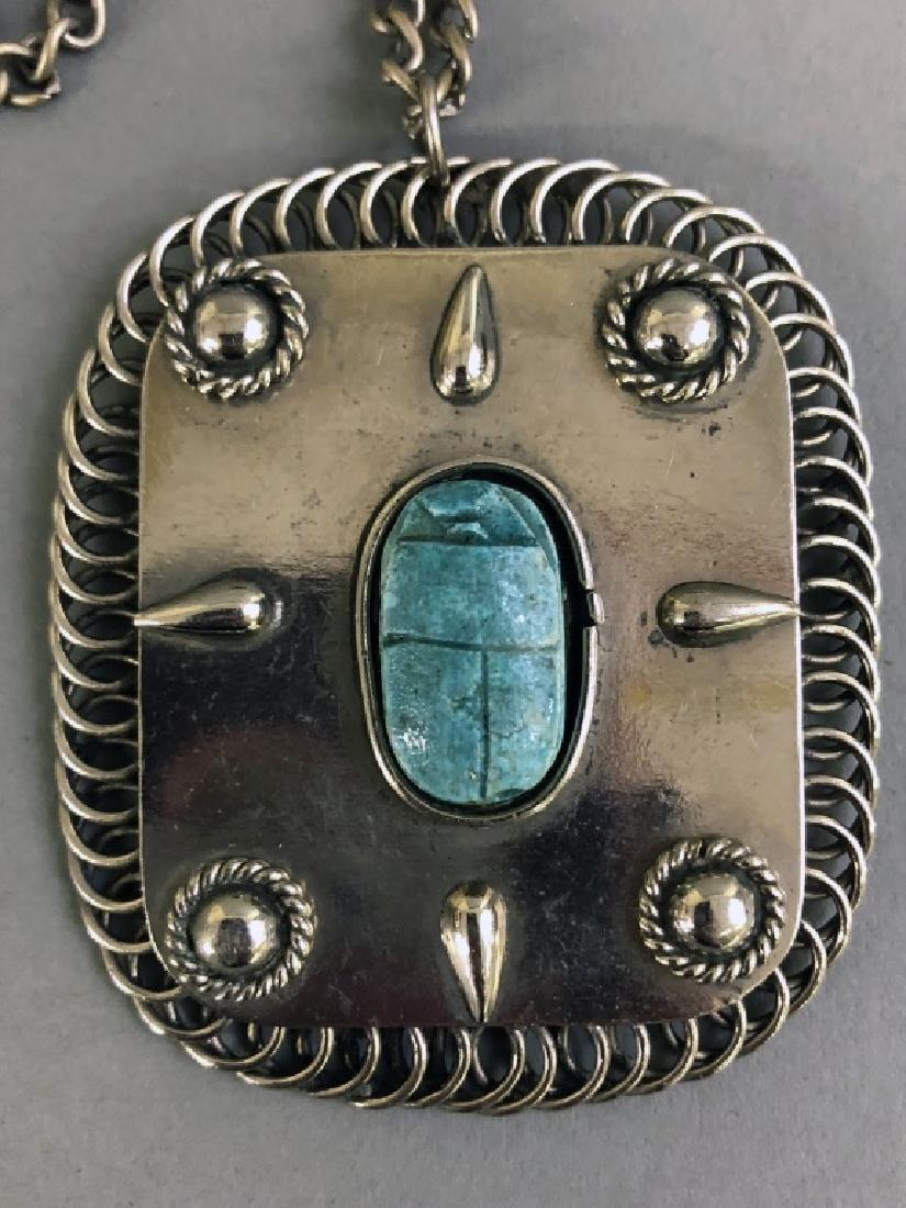 Silver Scarab Pendant