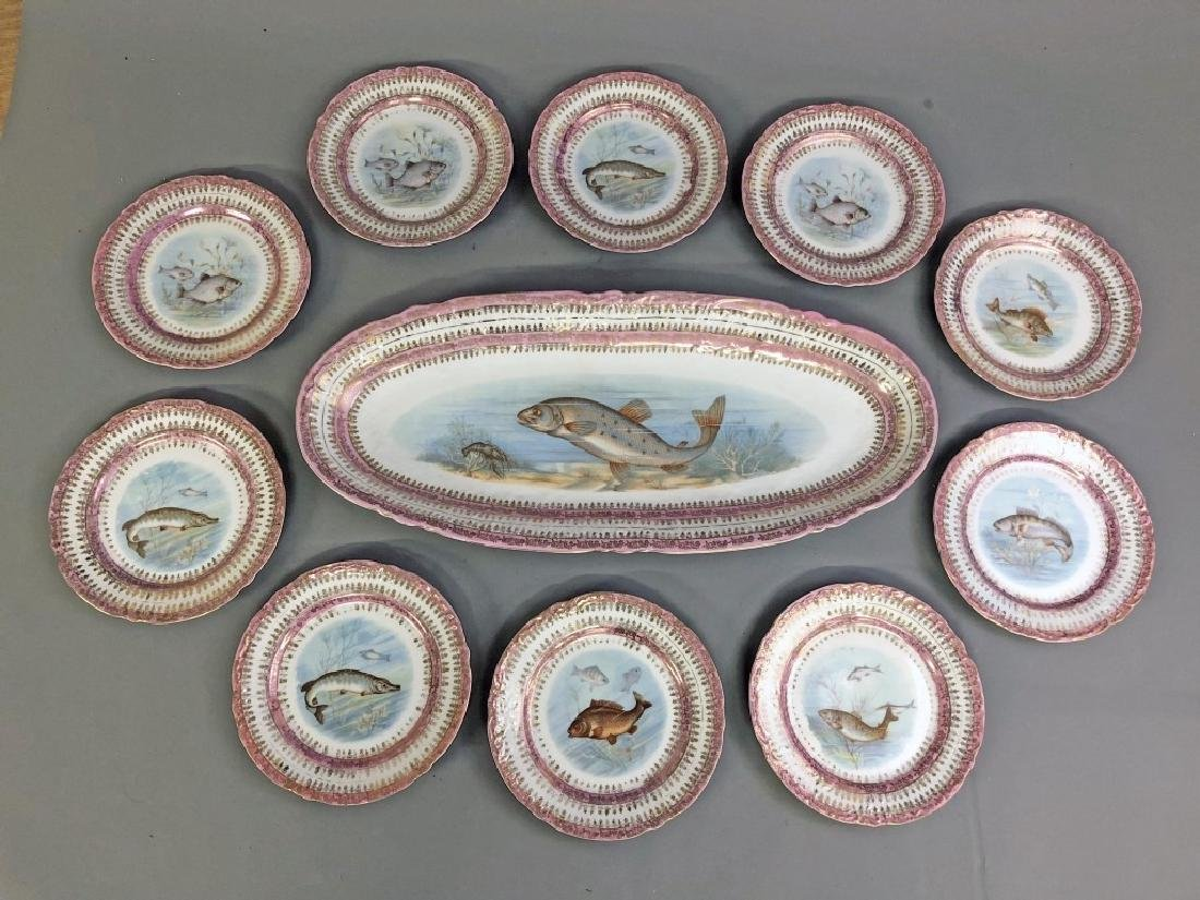 Austrian Imperial Victoria Fish Plates and Platter