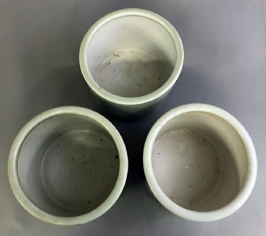 Three Asian Celadon Porcelain Planters - 5