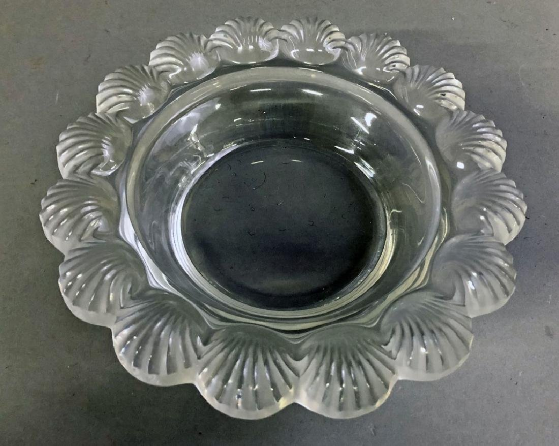Signed Lalique Dish with Shell Border