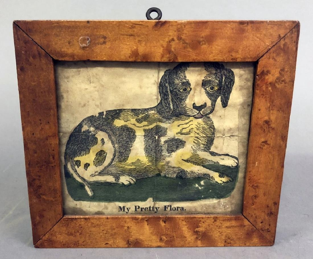 Hand Colored Print of a Dog