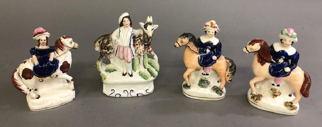 Four Staffordshire Figures of the Royal Children