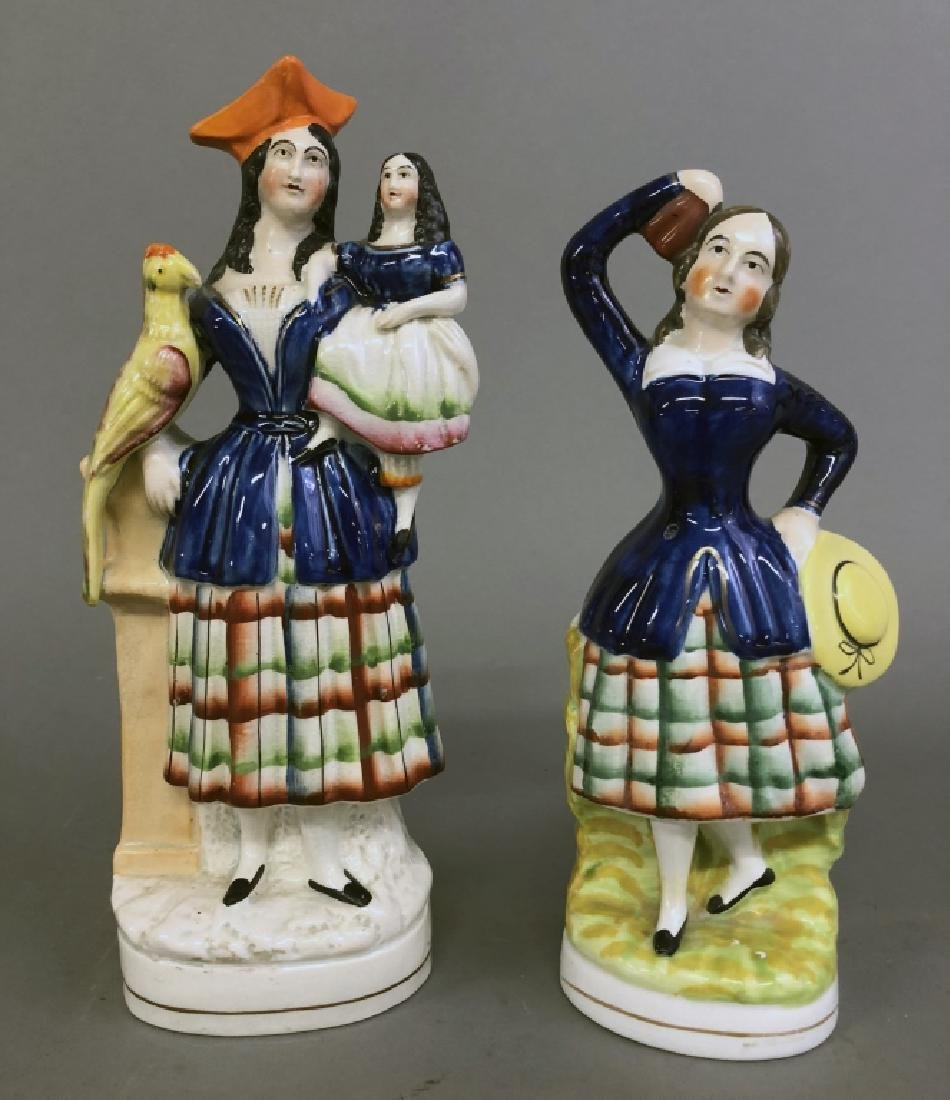 Two Staffordshire Figures