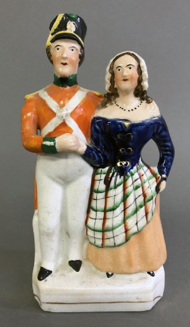 Staffordshire Figure of a Sailor and His Girl