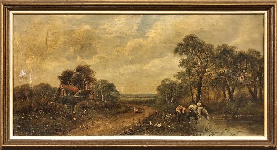 Oil on Canvas English Farm Landscape