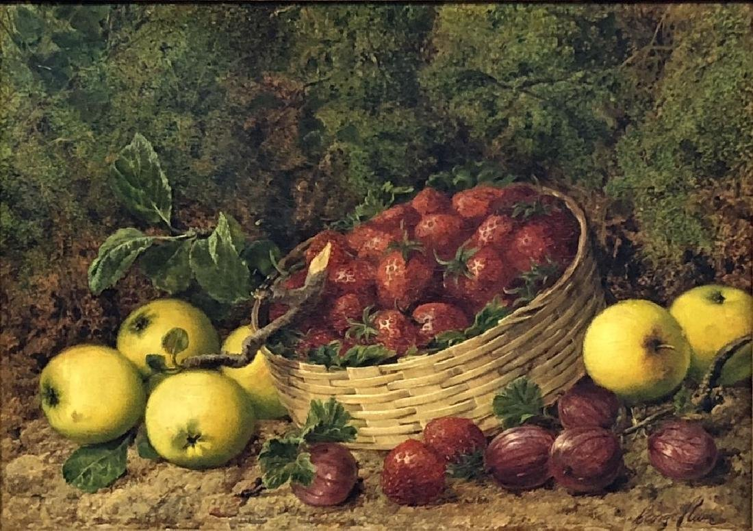 George Clare Oil on Canvas Still Life of Fruit - 2