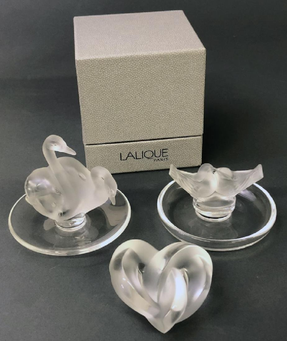 Three Signed Lalique Pieces