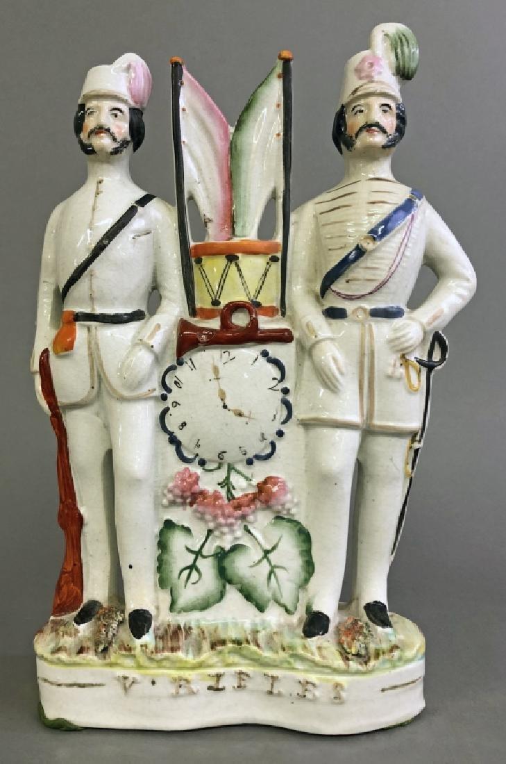 Staffordshire Figural Group of Volunteer Rifles