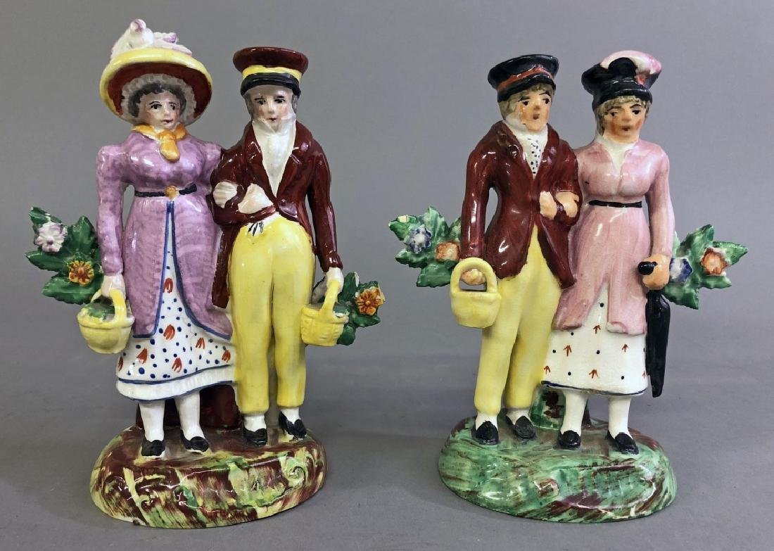Two Staffordshire Figures of the King and Queen