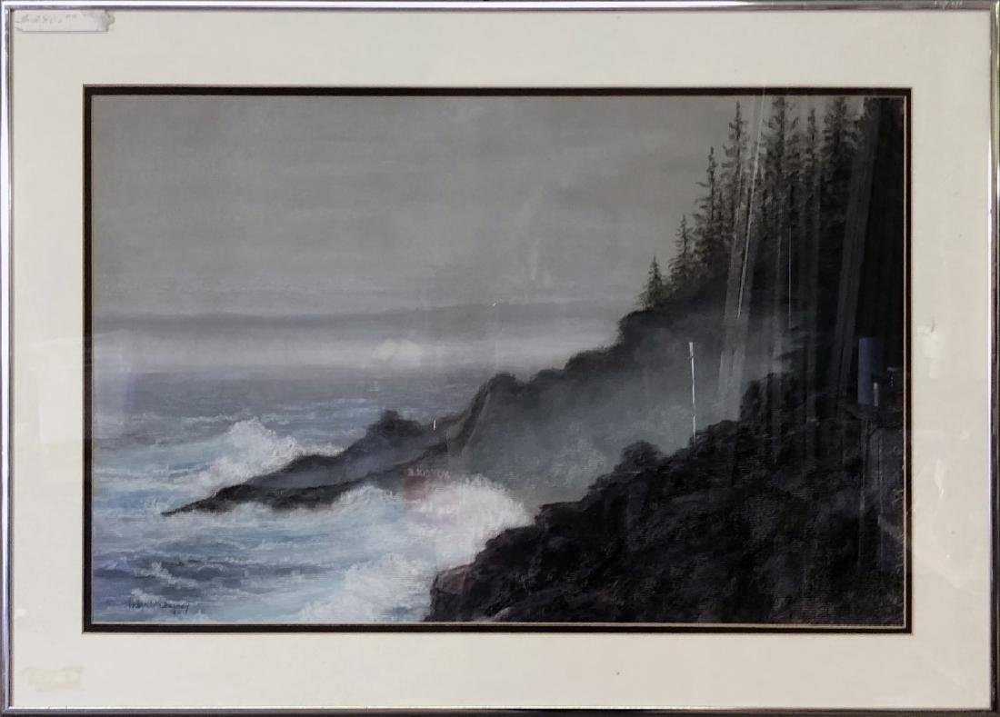 Helen McChesney Drawing of a Shoreline