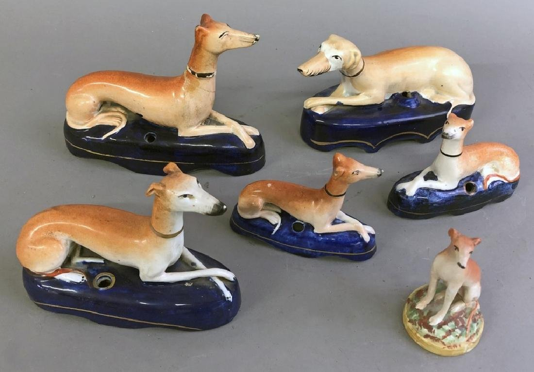 Staffordshire Whippet Quill Holders